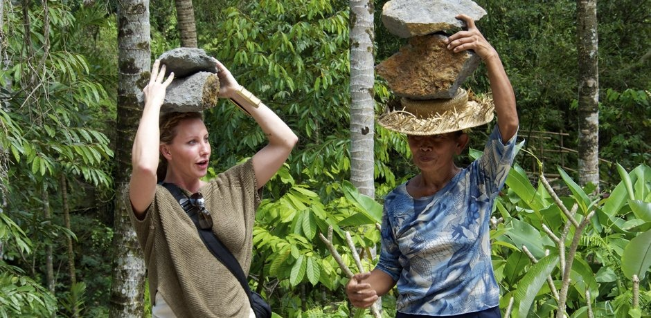 Amy travels to Singapore and Bali researching education and sustainability with her husband, Dr. Doering