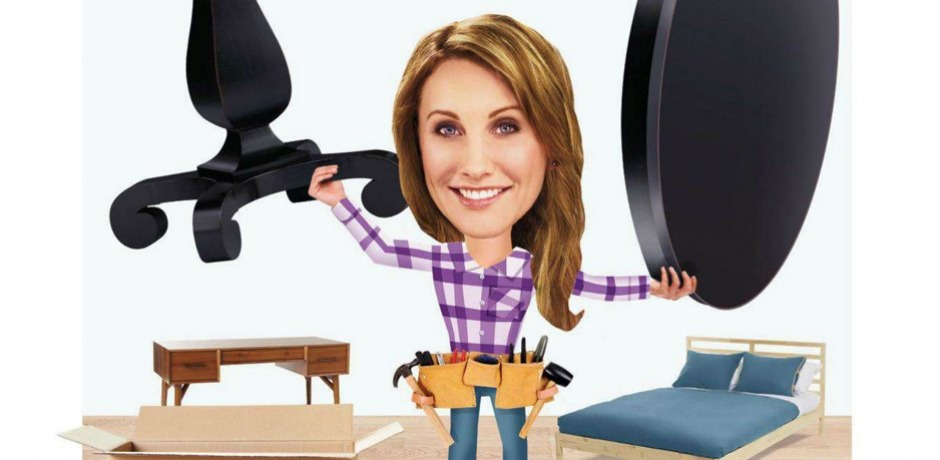 Amy tackled a truckload of furniture & reported back to HGTV Magazine