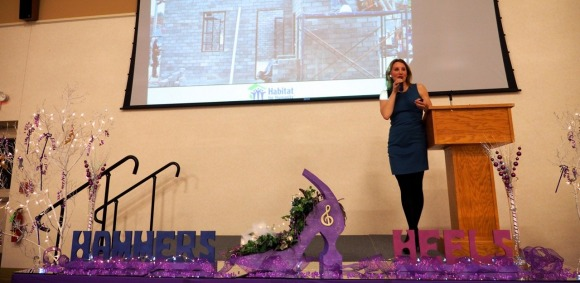 Amy keynotes hammers and heels habitat for humanity fundraiser